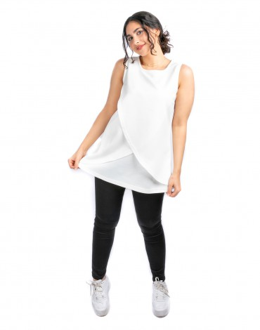 Sleeveless Top - White