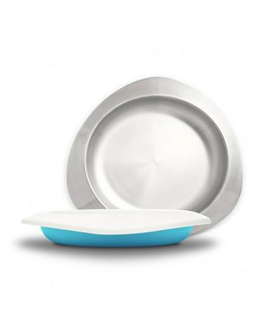Soufflé Plate - Baby Blue