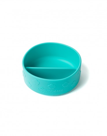 Teal Silicone Suction Bowl