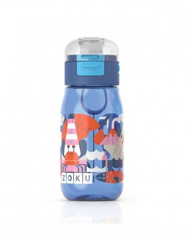 Zoku Kids Gulp Bottle - Graphics Blue