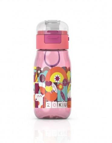 Zoku Kids Gulp Bottle - Graphics Pink